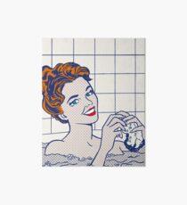 Woman in Bath (Lichtenstein) Art Board