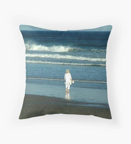 My Beach, My Waves, My Ocean Throw Pillow