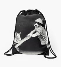 momma and her babies Drawstring Bag
