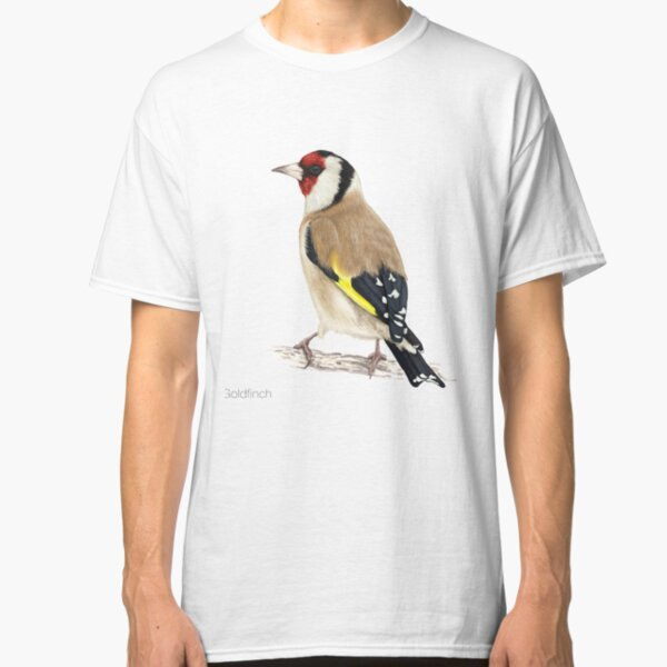 Detailed Goldfinch Bird Illustration Classic T-Shirt
