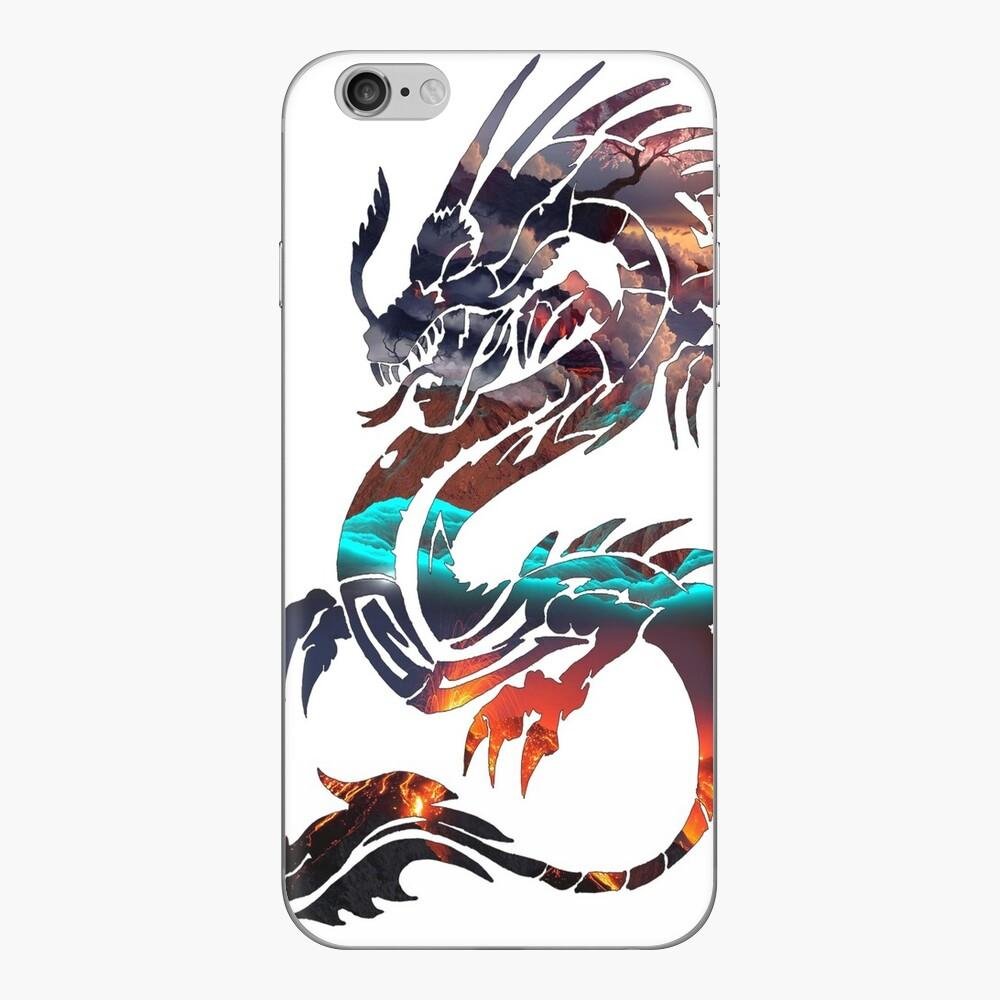 Dragon Bild füllen iPhone Klebefolie