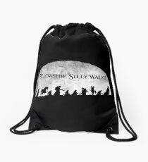 The Fellowship of Silly Walks Drawstring Bag