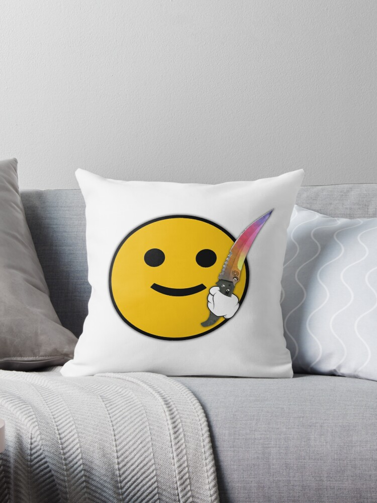 'CS: GO Flip Knife Fade' Throw Pillow by Fangs