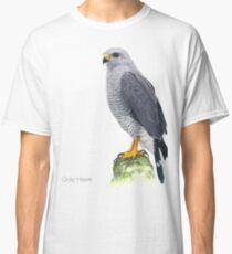 Gray Hawk Bird Illustration Classic T-Shirt