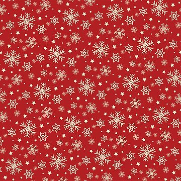 Red Christmas Snowflakes Patterns White by harshaldesai