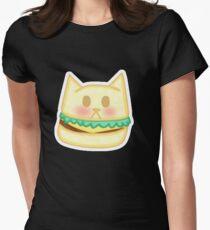 Kawaii Cat Burger  Women's Fitted T-Shirt
