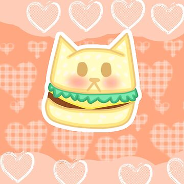 Kawaii Cat Burger  by mikistarlight