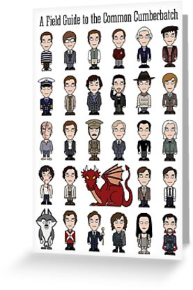 A Field Guide to the Common Cumberbatch (card/notebook) by redscharlach