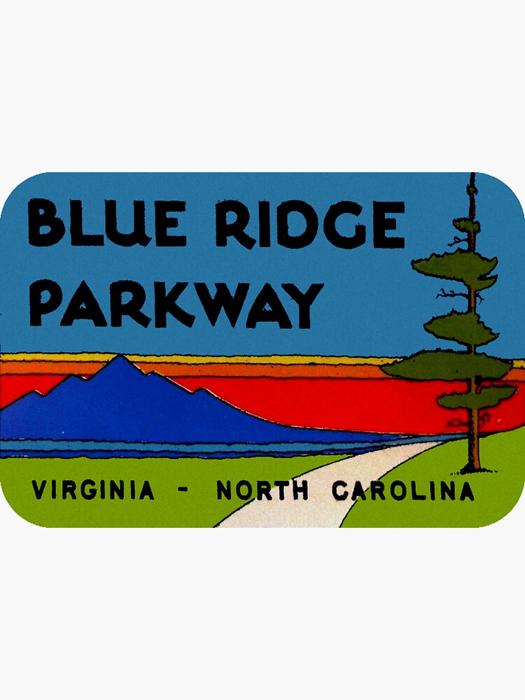 Blue Ridge Parkway Virginia North Carolina Vintage Travel Decal by hilda74