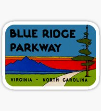 Pegatina Blue Ridge Parkway Virginia Carolina del Norte Vintage Travel Decal