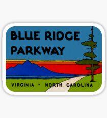 Blue Ridge Parkway Virginia North Carolina Vintage Travel Decal Sticker