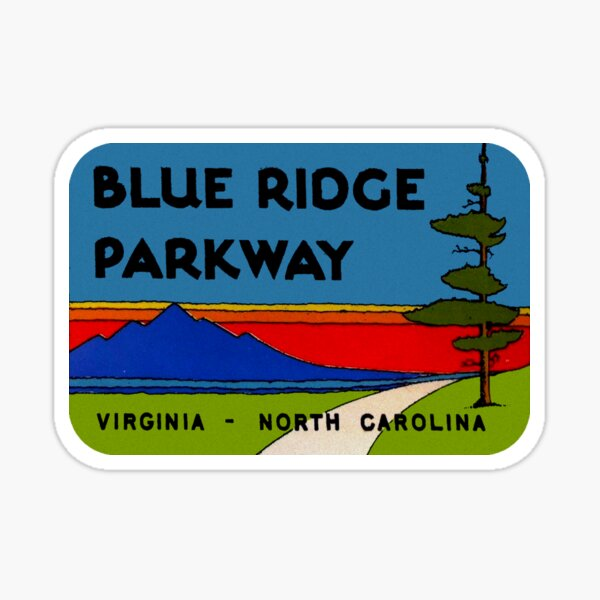 Blue Ridge Parkway Virginia North Carolina Vintage Travel Decal Sticker