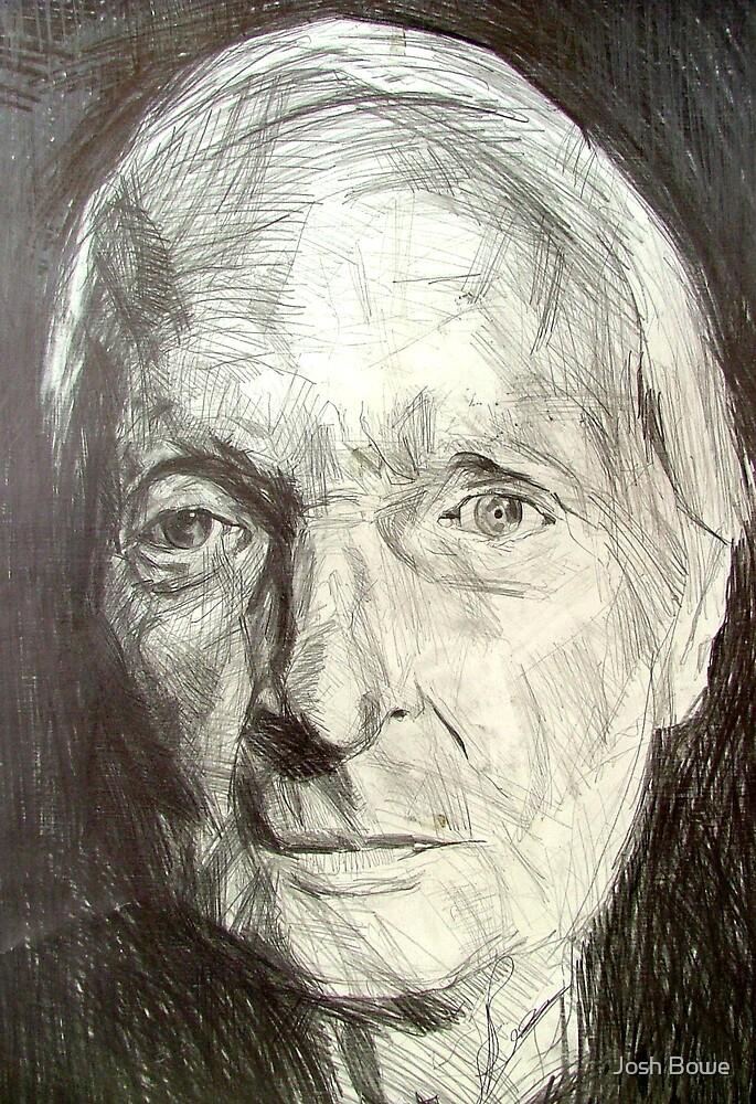 Portrait Sketch of Older Lady by Josh Bowe