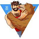 BEAR KISS - TRIANGLE by bobobear