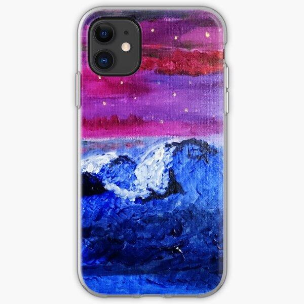 Night landscape iPhone Soft Case