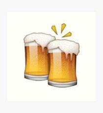Beer Emoji Wall Art | Redbubble