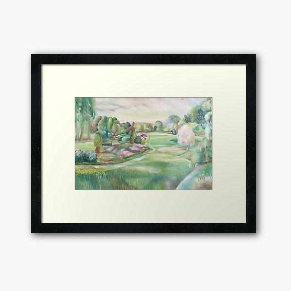 Harmony In The Garden Framed Art Print