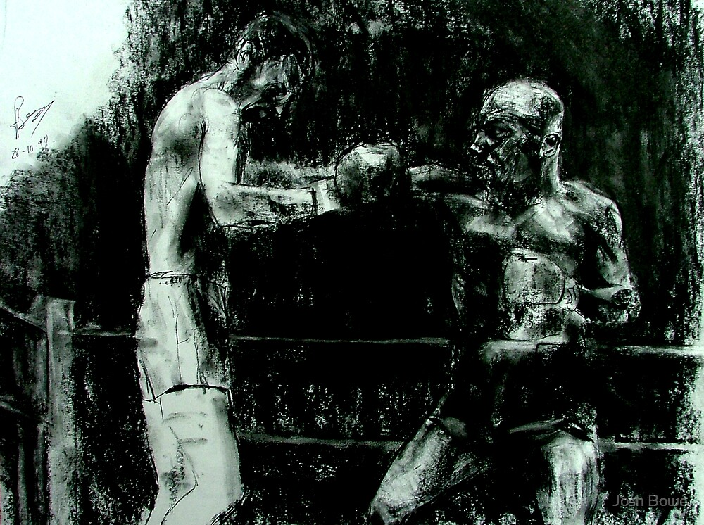 Marvin Hagler in action by Josh Bowe