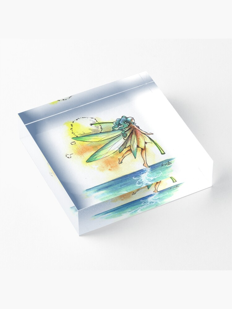 Alternate view of The Trail Fairy Acrylic Block