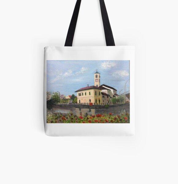 Church in Abbiategrasso All Over Print Tote Bag