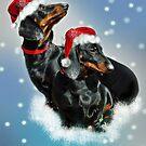 Christmas Teckels by Bine