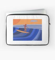 Longboard Surfer Girl Laptop Sleeve