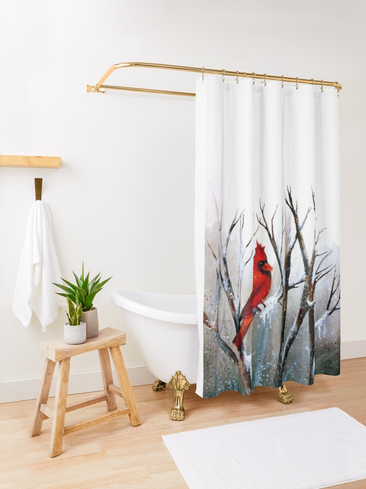 Alternate view of Cardinal.. Shower Curtain