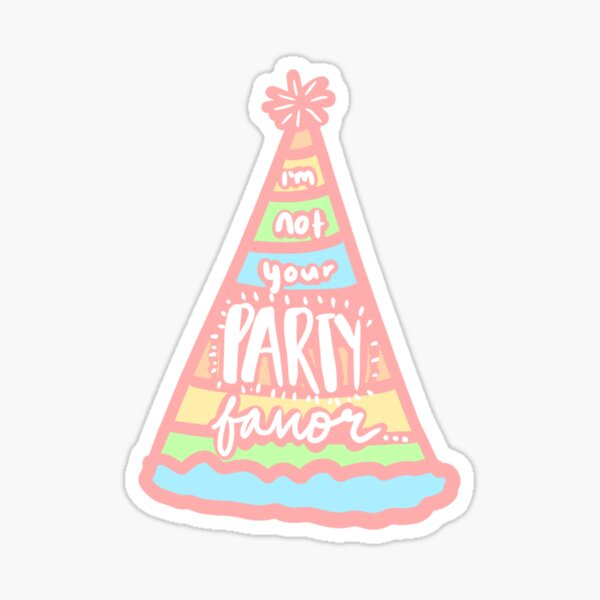 Party favor Sticker