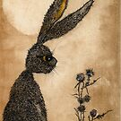 WATCHING HARE hrk101 by Hares & Critters