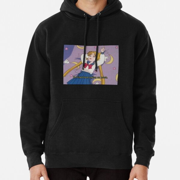 Qushy Unisex Sailor Moon Lovers Original Print Pullover Hoodie