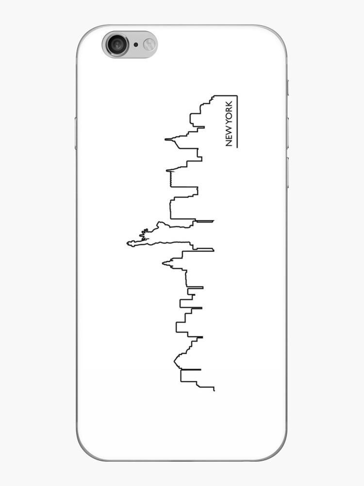 «Paisaje urbano de Nueva York (línea negra)» de peculiardesign