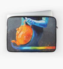 Heal with Rainbow Tea (self portrait) Laptop Sleeve