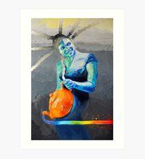 Heal with Rainbow Tea (self portrait) Art Print