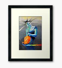 Heal with Rainbow Tea (self portrait) Framed Print