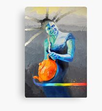 Heal with Rainbow Tea (self portrait) Metal Print