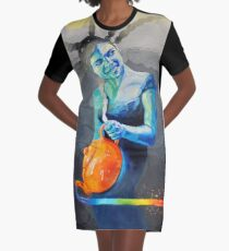 Heal with Rainbow Tea (self portrait) Graphic T-Shirt Dress