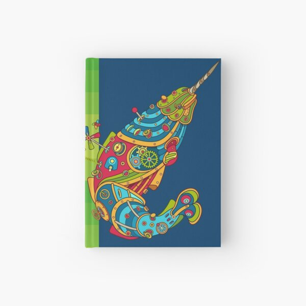 Narwhal, cool art from the AlphaPod Collection Hardcover Journal