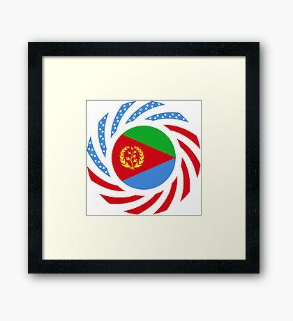 Eritrean American Multinational Patriot Flag Series Framed Print