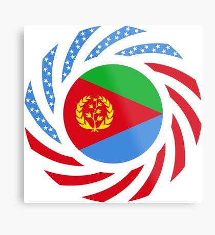 Eritrean American Multinational Patriot Flag Series Metal Print