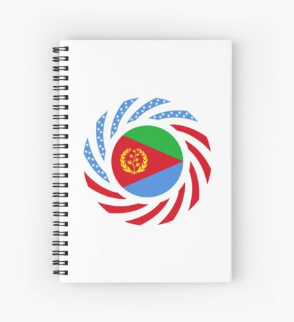 Eritrean American Multinational Patriot Flag Series Spiral Notebook