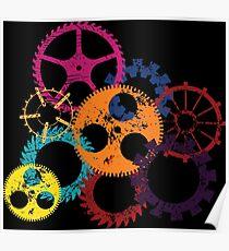 Industrial Wheels 2 Poster