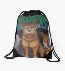 Spirit of the Wolf Drawstring Bag