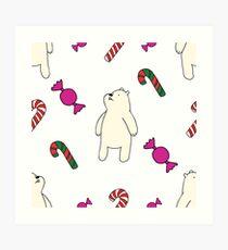 Teddie cute on white Art Print