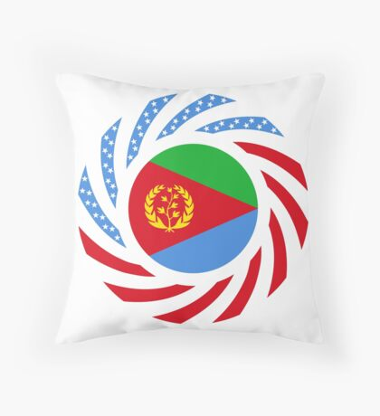 Eritrean American Multinational Patriot Flag Series Throw Pillow