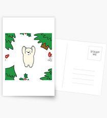 Cutie xmas teddy white  Postcards