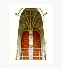 Arched entrance way, St Vitus Cathedral  Art Print