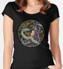Slay Your Dragons. Gift for Jordan B. Peterson fans Women's Fitted Scoop T-Shirt