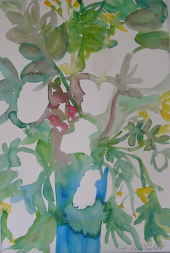Midsummer roses Tryptich 1 by Ruth Vilmi