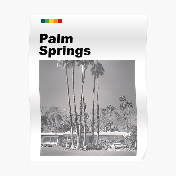 Palm Springs Litho Poster