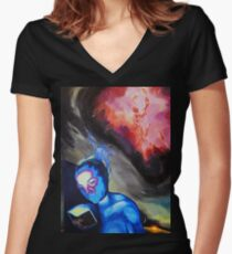 Sacred Knowledge Women's Fitted V-Neck T-Shirt